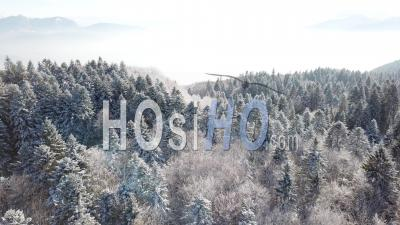L'hiver Sur Le Col De L'épine Vue Par Drone