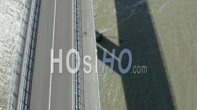 Vue Graphique Au-Dessus Du Pont De Noirmoutiers Sans Voiture Vue Par Drone