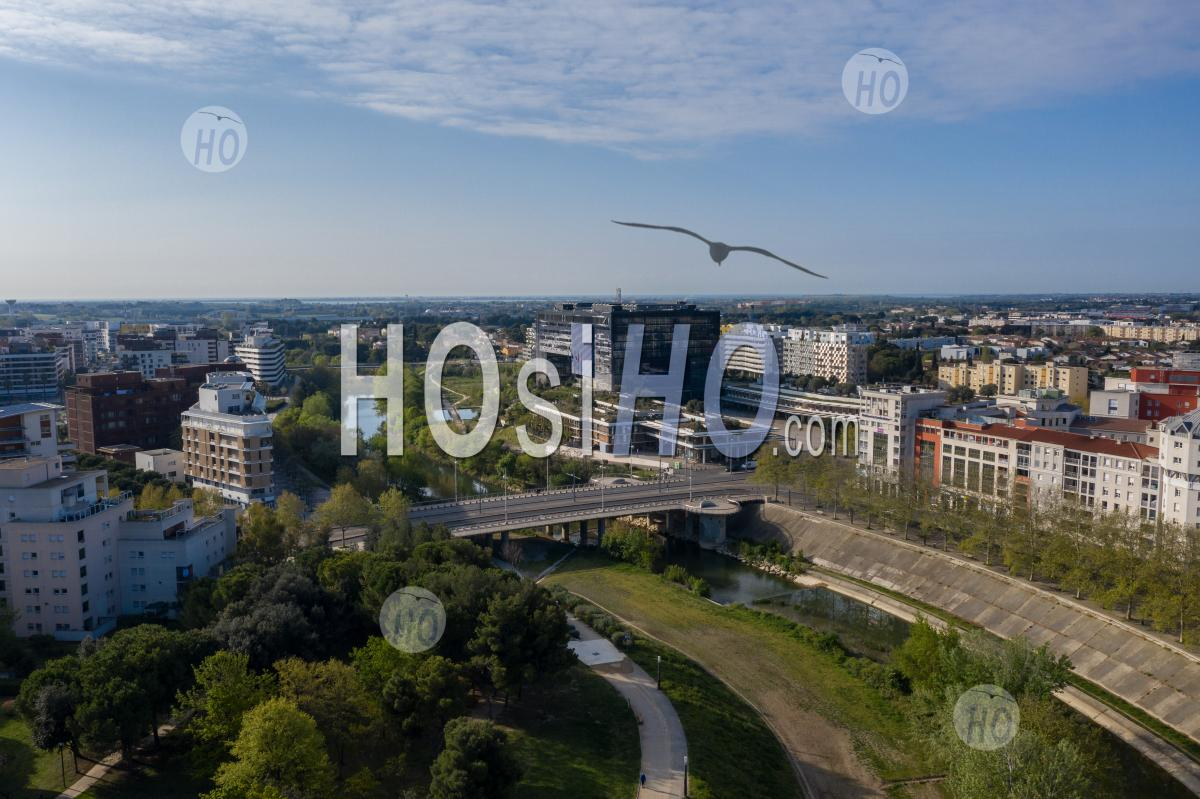 Photography Of The District Of Port Marianne In Montpellier, During Covid 19 - Aerial Photography