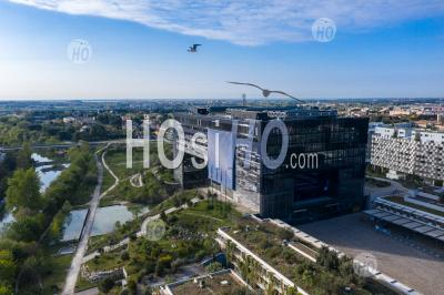 Photography Of The Montpellier City Town, During Covid 19 - Aerial Photography