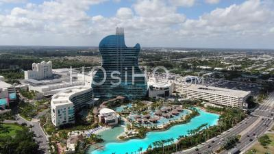 Casino Et Hôtel De Guitare Hard Rock Seminole - Hollywood, Floride - Vidéo Par Drone