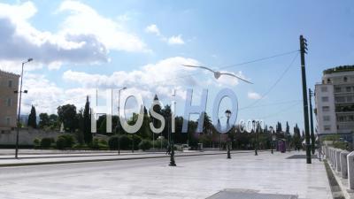 Avenue Amalias, Place Syndagma, Confinement Dans Le Centre-Ville D'athènes, Grèce