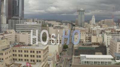 2020 - Vue Aérienne Des Rues Abandonnées Vides De Los Angeles Pendant L'épidémie D'épidémie De Virus Covid-19 Corona - Vidéo Par Drone