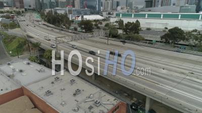 Circulation Inhabituellement Légère Et Rues Vides Pendant La Crise De Covid19, Los Angeles, États-Unis
