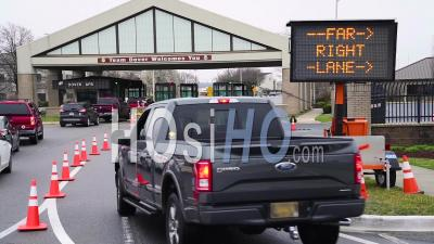 2020 - Vehicles Entering Dover Air Force Base Are Subject To Inspection For Coronavirus Coronavid-19 Symptoms Screenings.
