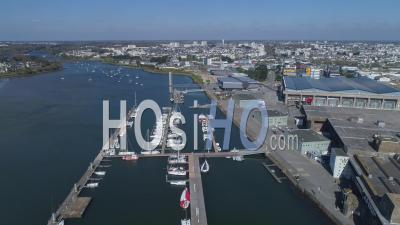 Empty Lorient La Base, At Day15 Of Covid-19 Outbreak, France - Video Drone Footage
