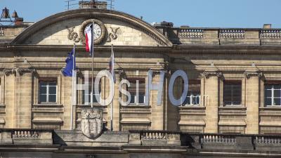 Bordeaux City, Unesco, Facade Of The Bordeaux City Hall