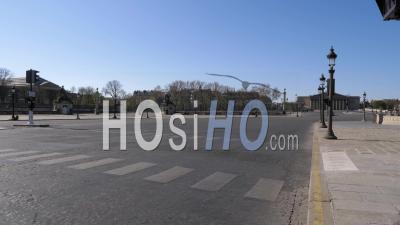 La Place De La Concorde à Paris Pendant Le Clip Vidéo De Confinement Covid-19