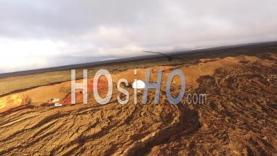 Scientific Base In The Volcanic Hills Of Mauna Loa Volcano, Hawaii - Video Drone Footage