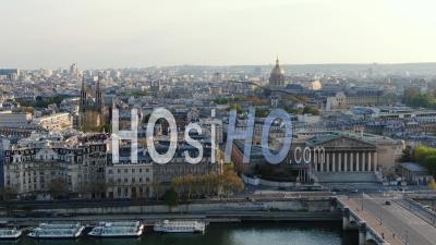 Quais De Seine, Parliement Et Rues Vides Pendant La Quarantaine De Paris - Vidéo Drone