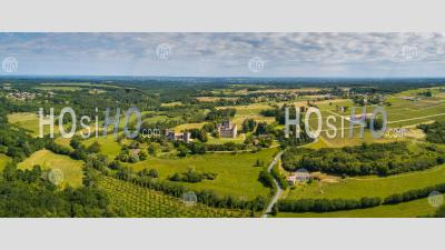 Aerial View Roquetaillade Castle - Aerial Photography
