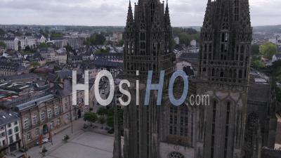 Lieu Vide Près De La Cathédrale St Corentin à Quimper, Finistère, Bretagne, France