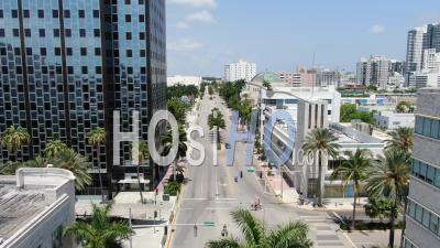 Washington Street North To Miami Convention Center - Vidéos De Drone Vidéo