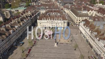 Aerial View Of Place Jeanne Hachette In Beauvais, Oise, France - Video Drone Footage