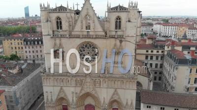 Cathedral Saint Jean In Lyon - Video Drone Footage