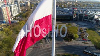 Coronavirus Lockdown In Warsaw - Video Drone Footage