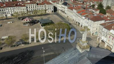 La Rochelle And Verdun Place Drone Point Of View During Covid-19 Outbreak