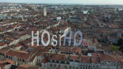 La Rochelle And City Center And Old Harbor Drone Point Of View During Covid-19 Outbreak