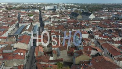 La Rochelle And Carre Amelot And Market Place Drone Point Of View During Covid-19 Outbreak