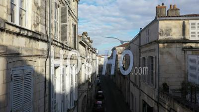 La Rochelle Streets Drone Point Of View During Covid-19 Outbreak