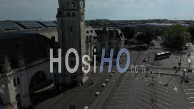 La Rochelle Train Station Drone Point Of View During Covid-19 Outbreak