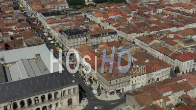 Rochefort And Market, Drone Point Of View During Covid-19 Outbreak