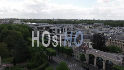 Boulevard Bertrand At Caen, And Desert Street During Lockdown Due To Covid-19 - Video Drone Footage