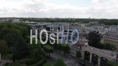 Boulevard Bertrand à Caen Et Rue Du Désert Pendant Le Confinement En Raison De Covid-19 - Vidéo Drone