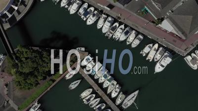 Covid-19-Empty Touristic Area At Saint Paul, Reunion Island - Video Drone Footage