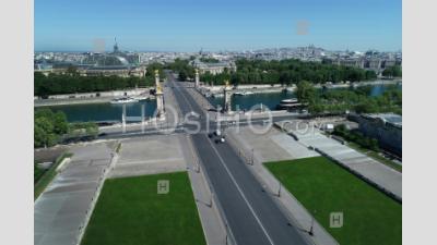 Aerial View Alexander 3 Bridge In Paris, France - Aerial Photography - Aerial Photography