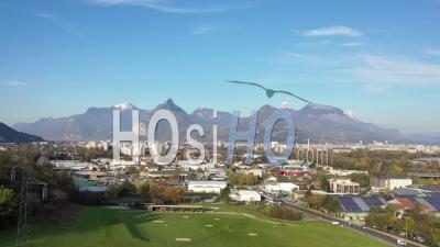 Grande Vue De La Chartreuse Et De Grenoble - Vidéo Drone