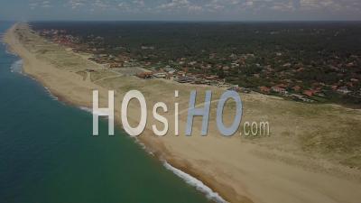 Vue Aérienne De La Plage De L'océan Et Du Lac D'hossegor - Vidéo De Drone