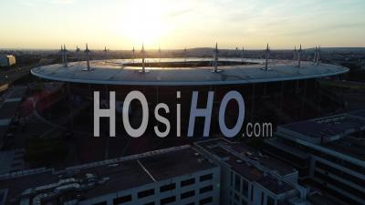 Stade De France, Saint Denis. Sunset View By Drone