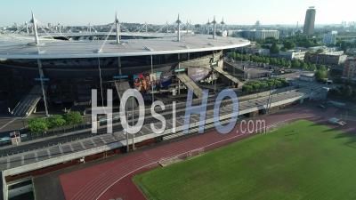 Stade De France, Saint Denis. Aerial View By Drone