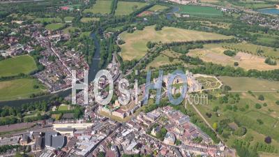 Château De Windsor, Windsor, Eton Et Slough, Berkshire, Filmé Par Hélicoptère