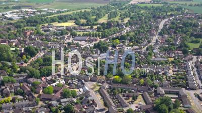 Ely Cathedral And Town Centre, Ely, Filmed From Aircraft