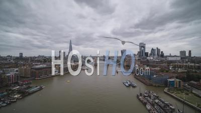Aerial View Of London Uk - Video Drone Footage