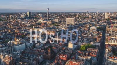 Vue Aérienne De Londres, Royaume-Uni, Toits De Londres, Mayfair West End - Vidéo Par Drone