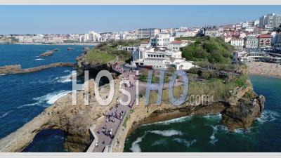 Vue Aérienne De Biarritz - Vidéo Par Drone