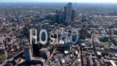 La Gare De Liverpool Street Et La Ville De Londres, Filmées En Hélicoptère