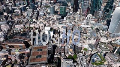 Banque D'angleterre, Ville De Londres, Filmé Par Hélicoptère