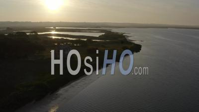 Pen Brons' Peninsula Landscape Drone Footage In Loire Atlantique France