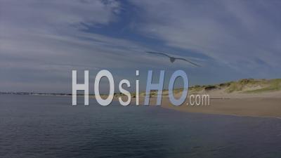 Dune Of Pen Bron Filmed By Drone In La Turballe, Loire Atlantique, France