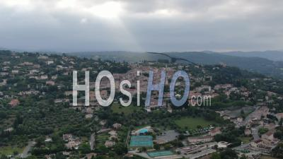 Aerial Footage Of Fayence, Provencal Village, Var, Seen By Drone