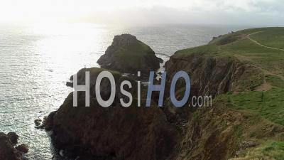 Falaises De La Pointe Du Van - Video Drone Footage