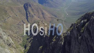 Isolated Mountain Ridge In South Africa - Video Drone Footage