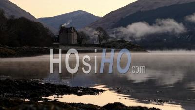Scotland Timelapse Of Dunderave Castle Situated On The Coastline Of Loch Fyne In Argyll And Bute, Highlands Of Scotland - Wide Time Lapse Shot
