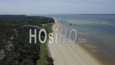 Beach And The Arcachon Basin, Seen By Drone