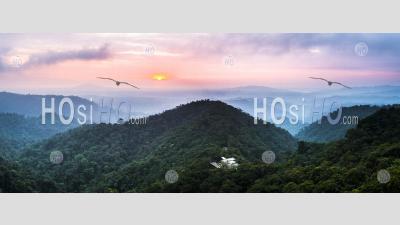 Mashpi Lodge At Sunset, Choco Cloud Rainforest, Pichincha Province, Ecuador