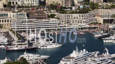 Monaco Harbord Et Paysage Urbain, Vidéo Drone